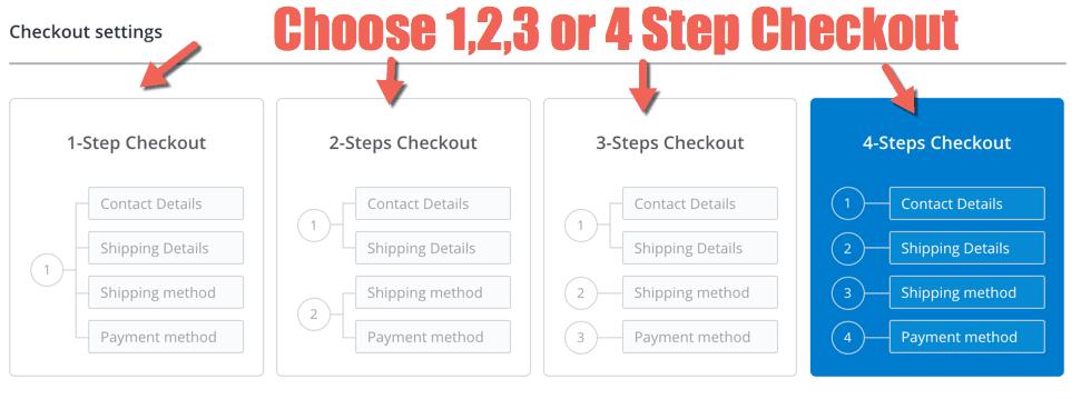 4 step checkout