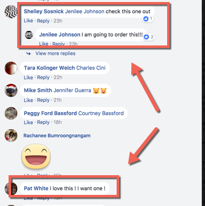 Comments on FB ads