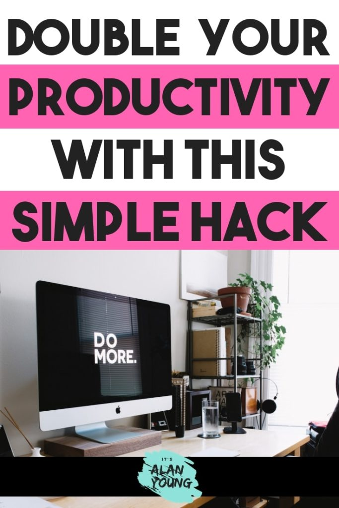 Time management productivity hack. Get more done with the Pomodoro technique. If you try this for one day you'll get so much more done. Ever since doing this I've doubled how productive I am when working at home. #productivity #timemanagement #productivitytip #productivityhack #increaseproductivity