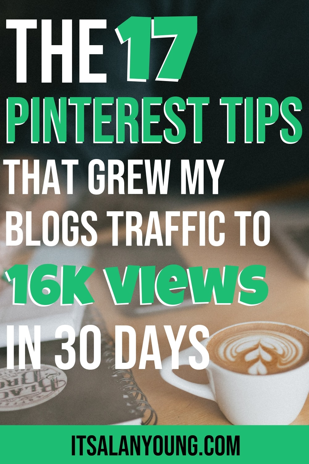 I'm sure you'll agree with me that it's super frustrating to spend weeks if not months building a blog and creating tons of content but no one coming to view it. That\'s what happened to me. Till I started using Pinterest, then my blog traffic took off like a rocket and I\'ve hit 16k pageviews in the first month. If you need traffic then check my 17 Pinterest tips for blog traffic.  #ItsAlanYoung #SEO #Blog #Blogger #Traffic #BloggingTips #WorkOnline #PinterestTips #SocialMedia
