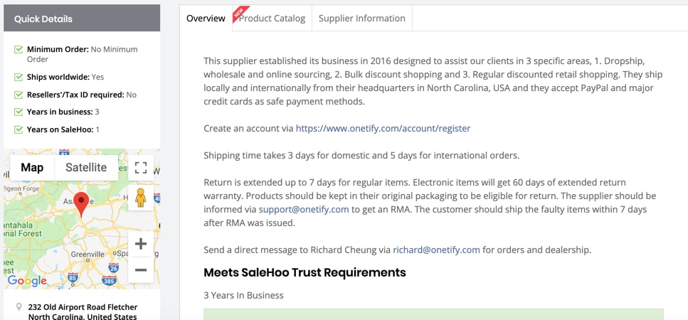 SaleHoo Review - Contacting wholesale suppliers